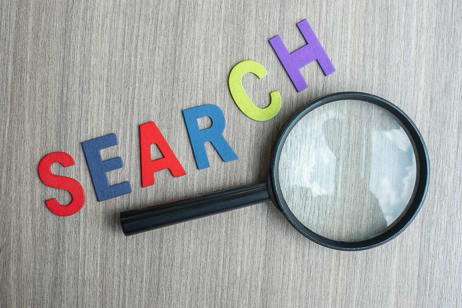 business text vision concept search magnifying glass engines by @jopanuwatd