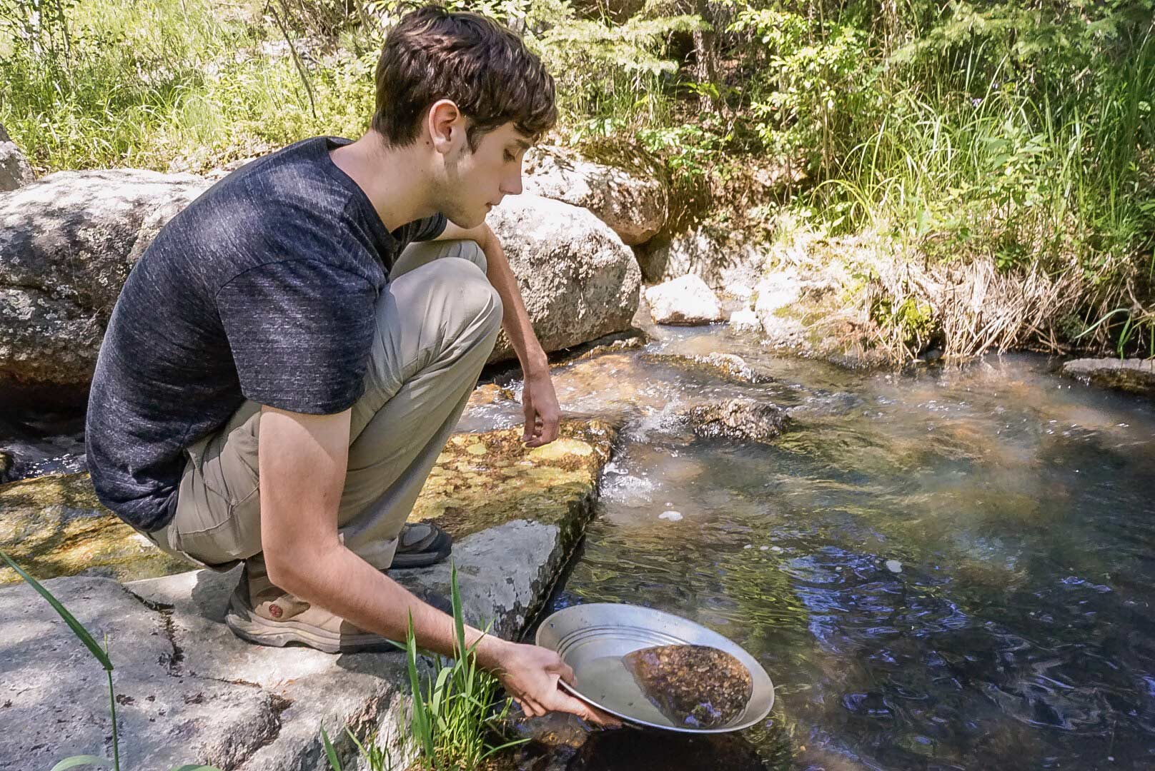 gold panning a stream in coloradoby @camera7088