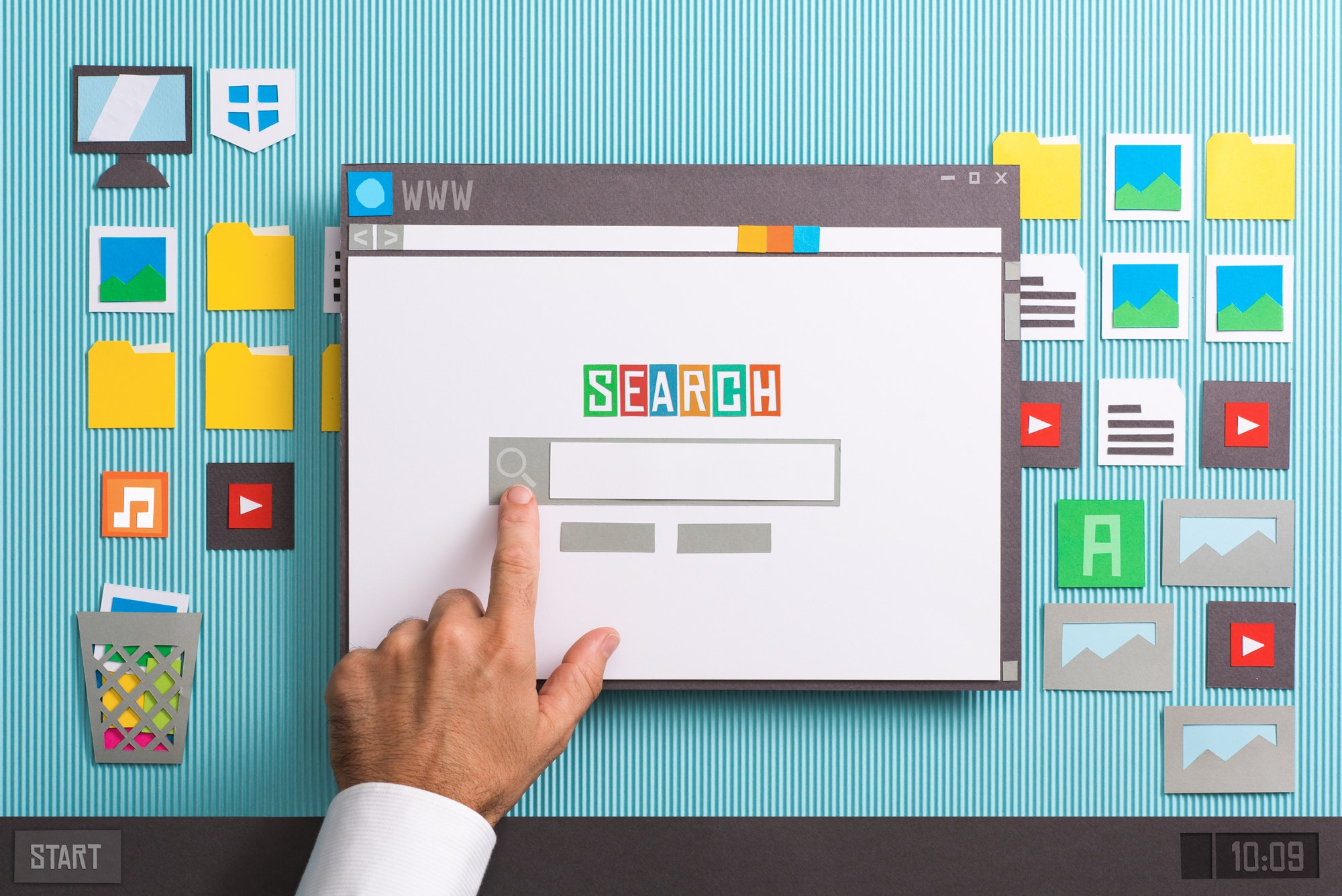 Search engine home page by stokkete