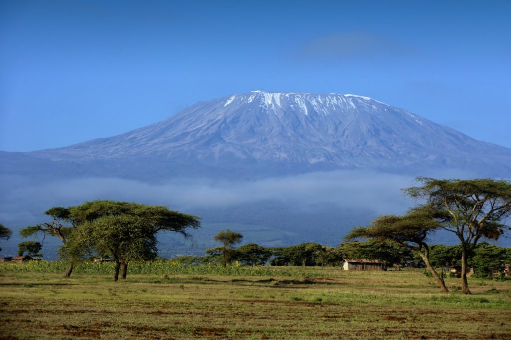 landscape of Mount Kilimanjaro - the roof of Africa in Tanzania by MHSKYPIXEL..