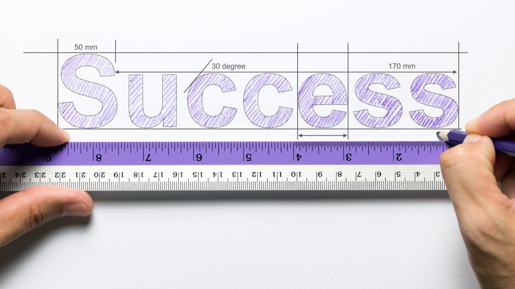 Measure success concept by kenishirotie