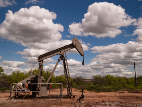 Pumpjack Oil Pump Fracking Equipment Natural Resource Extraction by Christopher_Boswell