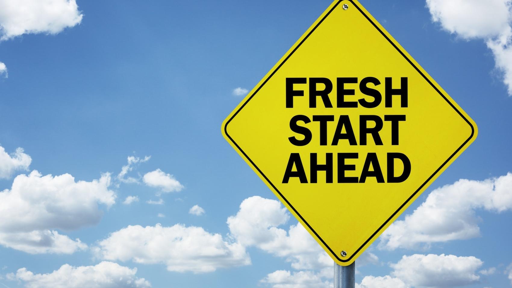Fresh start ahead road sign by BrianAJackson